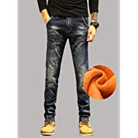 牛仔裤男秋冬季加绒裤弹力男士弹力牛仔长裤子加厚欧美L-PG6381