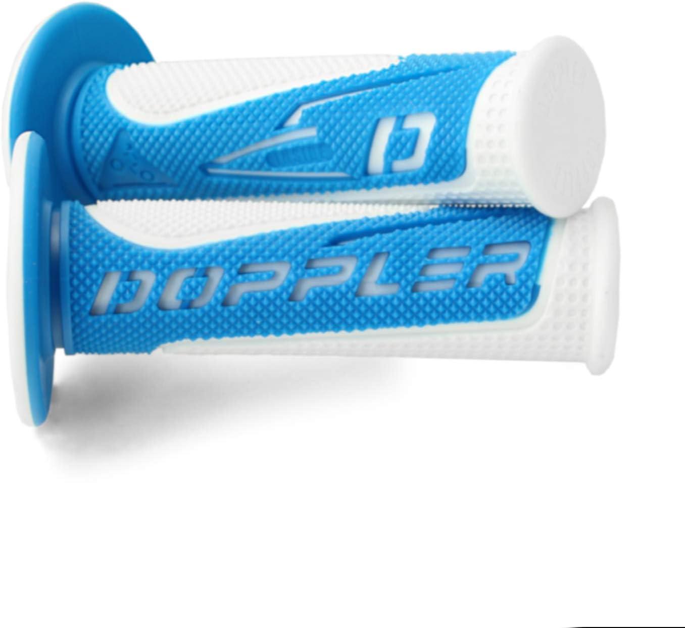 Blau//Wei/ß Lenkergriffe Motorrad Motorroller Doppler Radical Grip 22//24-25 mm