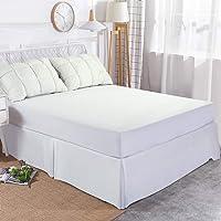 Edilly Hotel Luxury Bed Skirt Soft Microfiber 15-Inch Drop Wrinkle & Fade Resistant