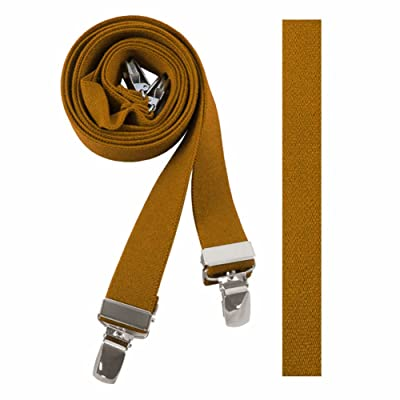 Absolute Stores Childrens Mustard Solid Suspenders