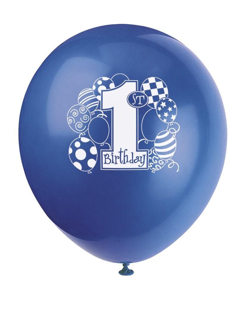 Unique Party- Piñata de primer cumpleaños para tirar, Color azul (66307)