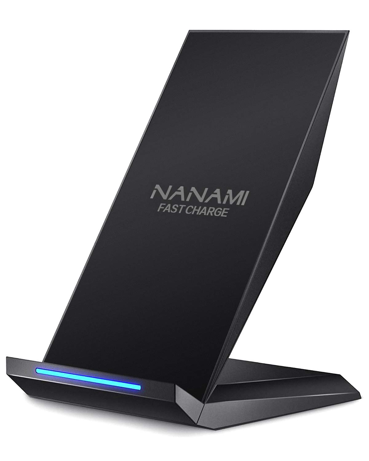 Fast Wireless Charger, NANAMI Qi Certified Charger Wireless Charging Stand Compatible iPhone X/XS/XR/XS Max/8/8 Plus, Samsung Galaxy S10 S10+ S9 S9+ S8 S8+ Note9/8 S7 S7edge and All Qi-Enabled Device