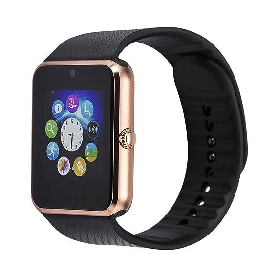 Ml gt08 Bluetooth reloj inteligente bluetooth reloj de pulsera con cámara simh con NFC teléfono móvil
