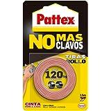 Pattex No Más Clavos Cinta, cinta adhesiva para aplicaciones permanentes, cinta de doble cara extrafuerte, adhesivo de…