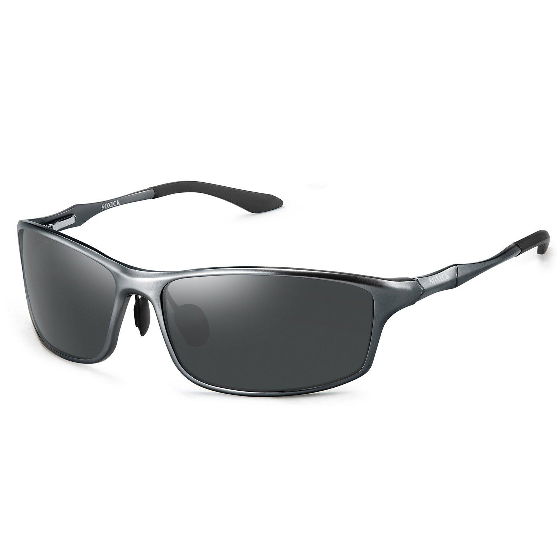 2c1c63af4a1 Soxick Polarized Sports Sunglasses For Men UV400 Metal Men s Fashion Retro  Wayfarer Driving Sunglasses
