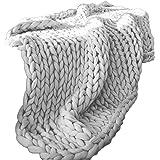 TOPmountain ウールブランケット ソファブランケット ニット 5色 4サイズ 冬の装飾