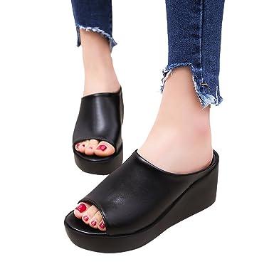 39aa2045a3c Amazon.com  Women Platform Wedge Sandals