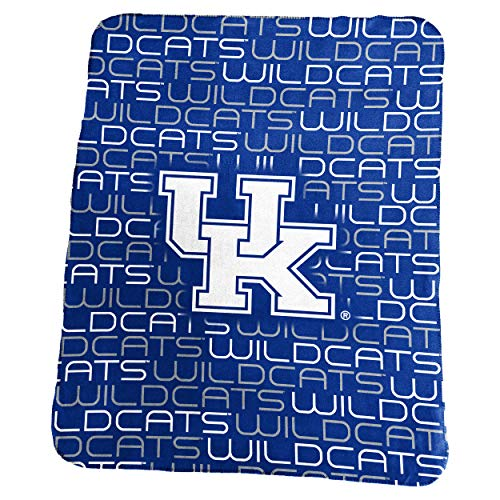 Logo Brands NCAA Kentucky Wildcats Classic Fleece, One Size, Royal