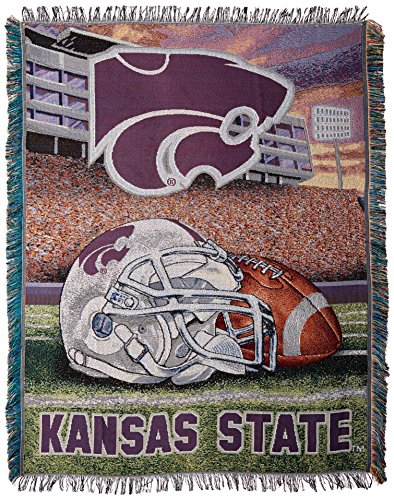 The Northwest Company Officially Licensed NCAA Kansas State Wildcats Home Field Advantage Woven Tapestry Throw Blanket, 48
