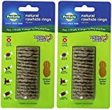 (2 Pack) PetSafe Size A Busy Buddy Refill Ring Dog Treats for Select Busy Buddy Dog Toys, Peanut Butter Flavored Natural Rawhide