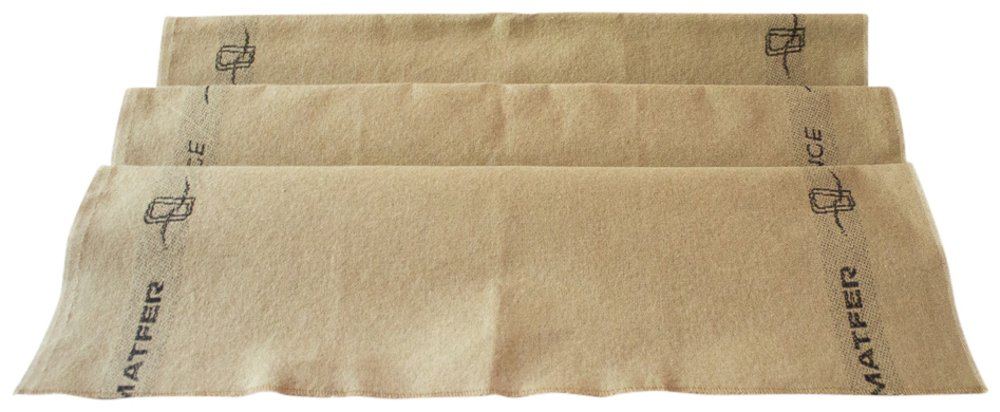 3-Piece Set: Emile Henry Ceramic Baguette Baker Charcoal, Mure & Peyrot Longuet Bread Scoring Lame, Matfer Baker's Couche Proofing Cloth Linen, 23.5 x 35.5 - Bundle by Mixed (Image #3)