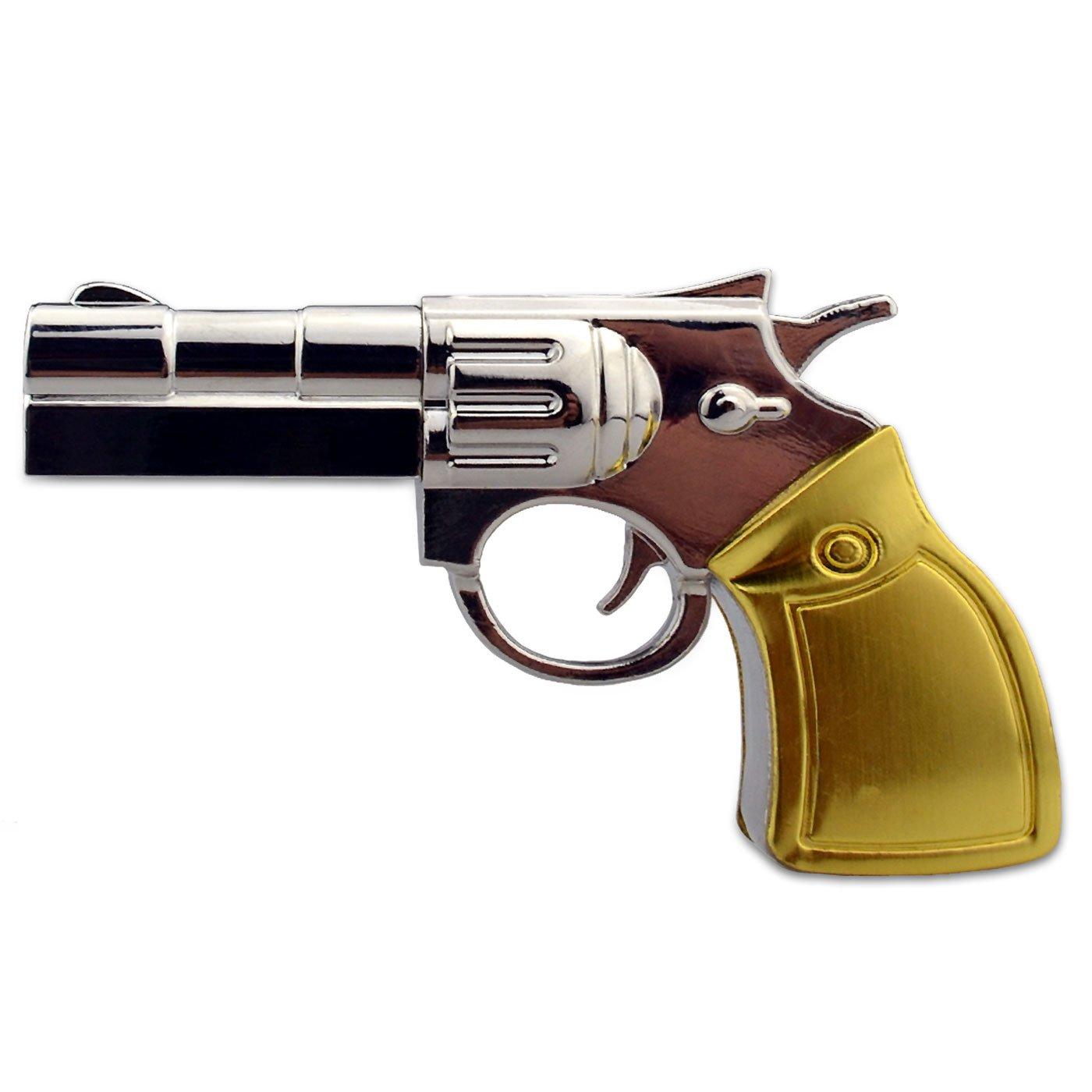 Tienda 818 no1750001 USB Stick Pistola Revólver Metal 3D Oro ...