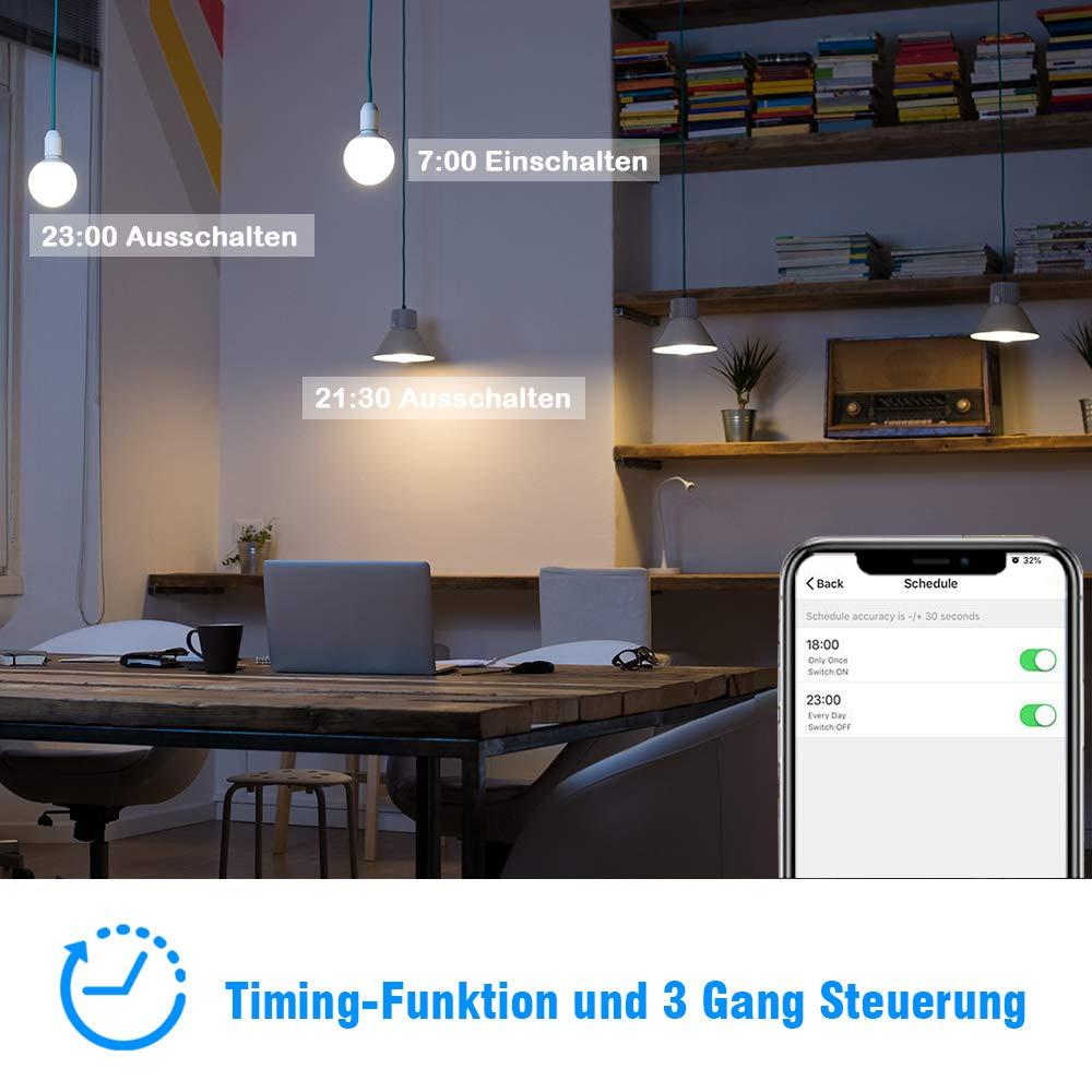 Rolladen Zeitschaltuhr WiFi Rolladenschalter bedee Smart Lichtschalter Wireless Touch Funkschalter Kompatibel mit Alexa Echo Und Google Assistant App Touchscreen Fernbedienung Timing Funktion 3 Gang