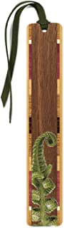product image for Fiddlehead Fern Wooden Bookmark with Suede Tassel