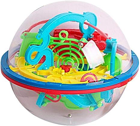 Winthai 3D Intellect Laberinto Bola Cerebro teasers Puzzle Laberinto Juego Juguete con 100 barreras desafiantes para los niños Adultos pequeños: Amazon.es: Juguetes y juegos