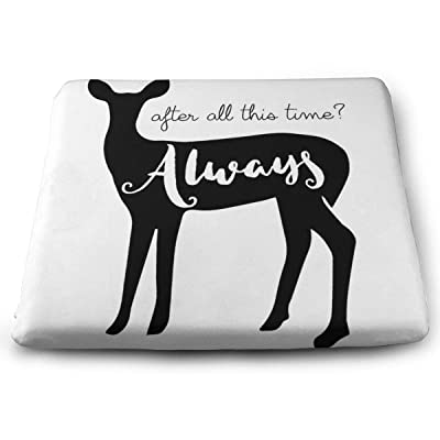 "Osvbs Black-and-White Deer Fawn Silhouette Tail Wildlife Decorative Seat Cushions 1.2"" × 13.8"" × 15.0"" for Home Office Dinning Chair Solid Color Indoor Outdoor: Home & Kitchen"