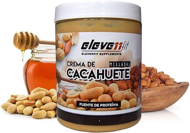 CREMA DE CACAHUETE SABOR MIEL Y SAL: Amazon.es: Salud y ...