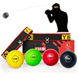 YMX BOXING Ultimate Reflex Ball Set - 4 React Reflex Ball Plus 2 Adjustable Headband, Great for Reflex, Timing, Accuracy…
