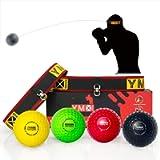 YMX BOXING Reflex Ball Set - 4 React Reflex Ball Plus 2 Adjustable Headband, Great for Reflex, Timing, Accuracy, Focus…