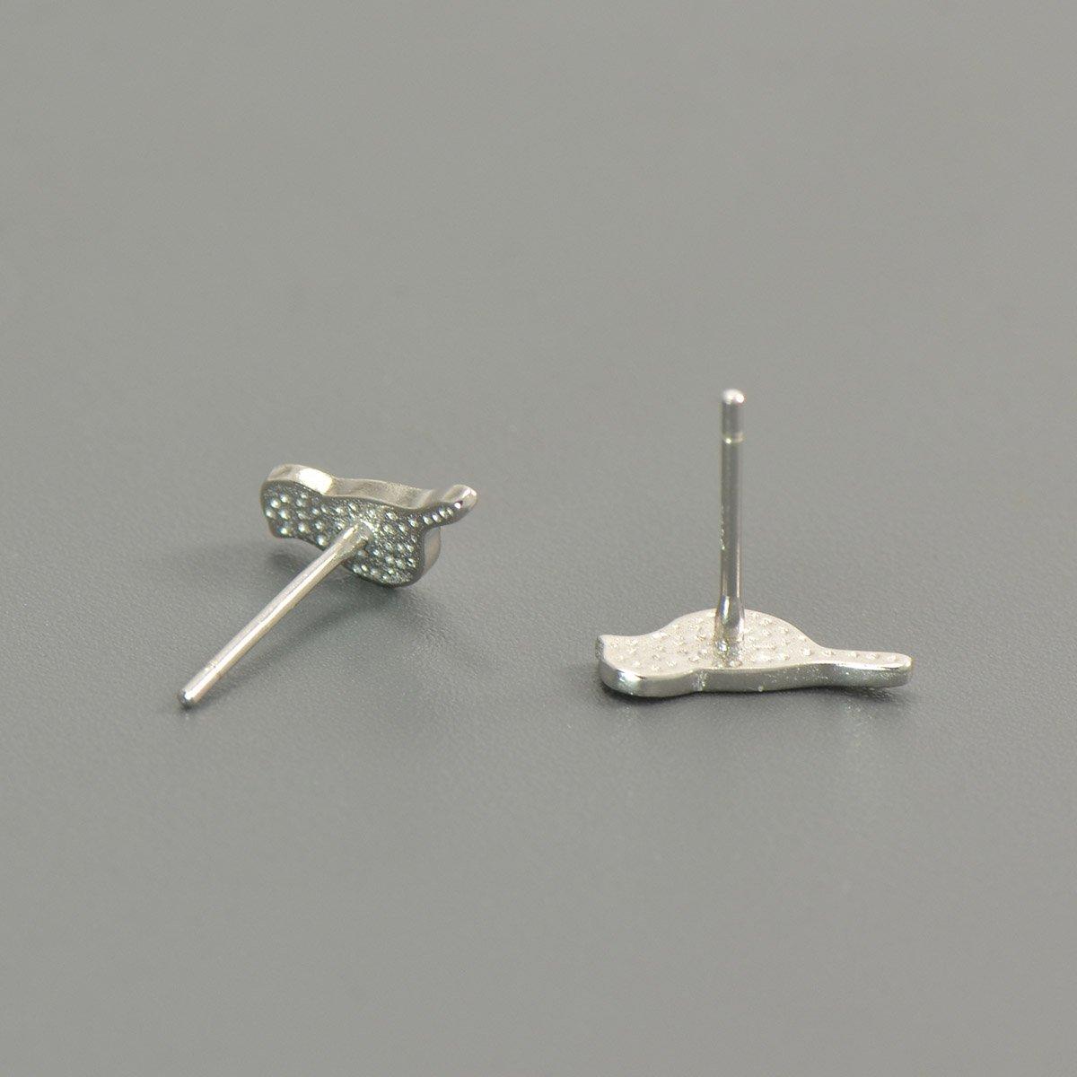 925 Sterling Silver Little Brids Earrings Studs for Girls