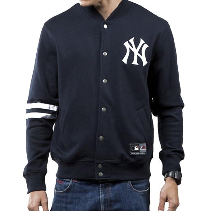 Majestic Chaqueta MLB Emodin Fleece Letterman New York Yankees Azul