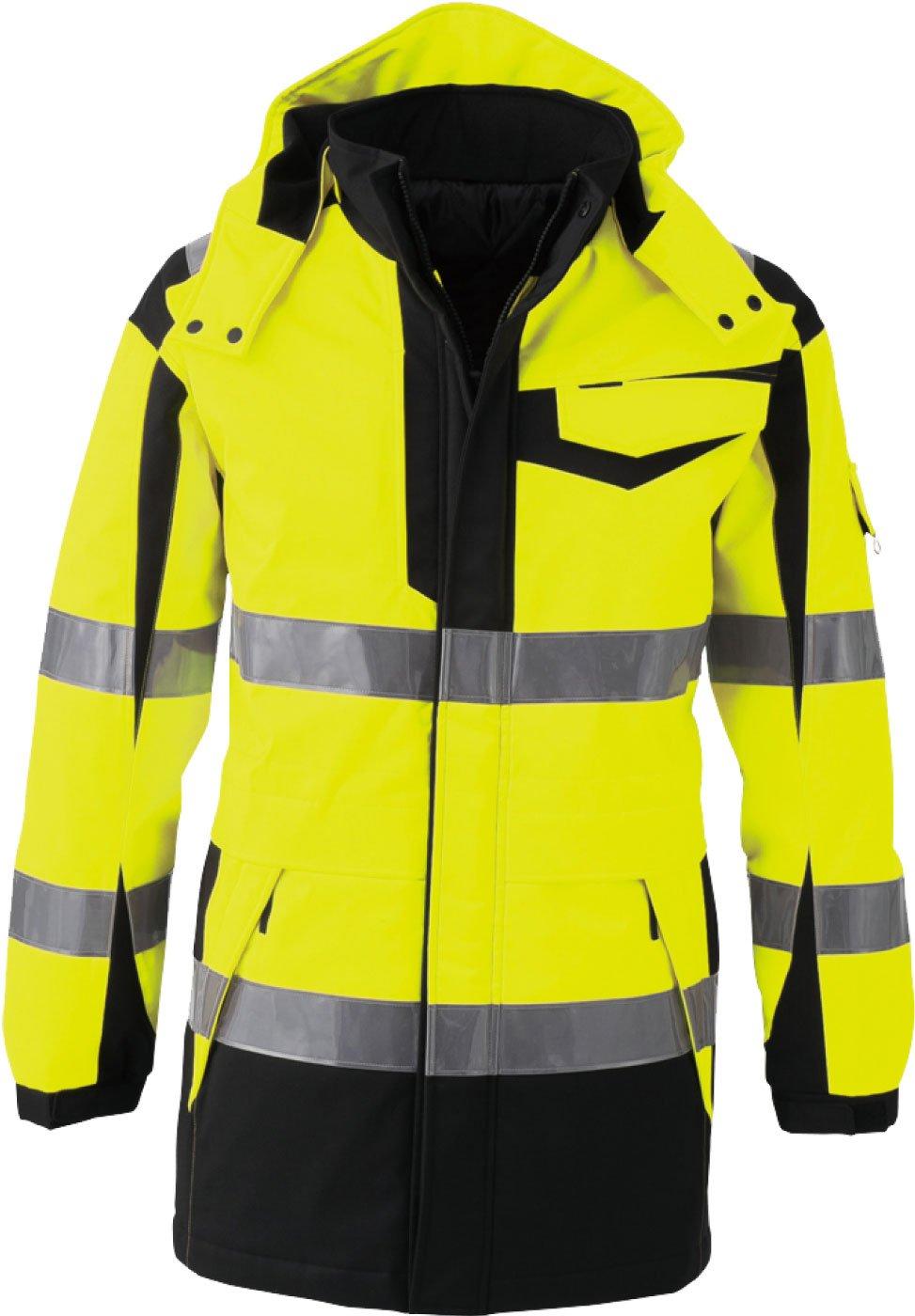 コーコス(CO-COS) 高視認性安全防水防寒コート セーフティ 反射ブルゾン cc-cs2426 B01M6Y8TC9 L|イエロー イエロー L