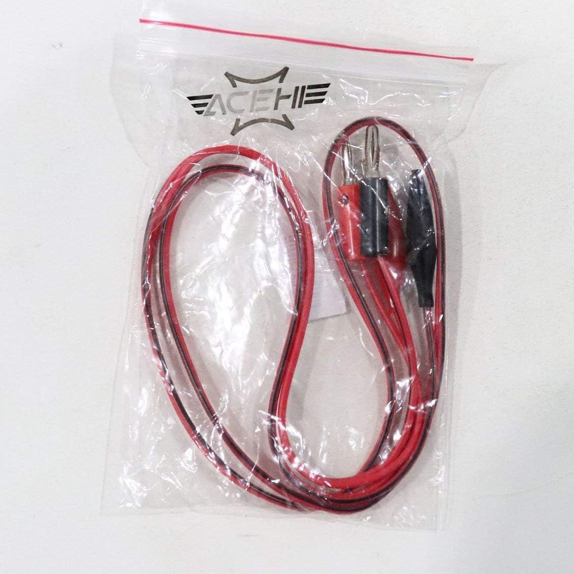 Puntas de prueba el/éctricas de pinza de cocodrilo Cable de conector banana tipo pin pin para mult/ímetro digital Cable Pluma Herramienta de prueba de cable Rojo y negro