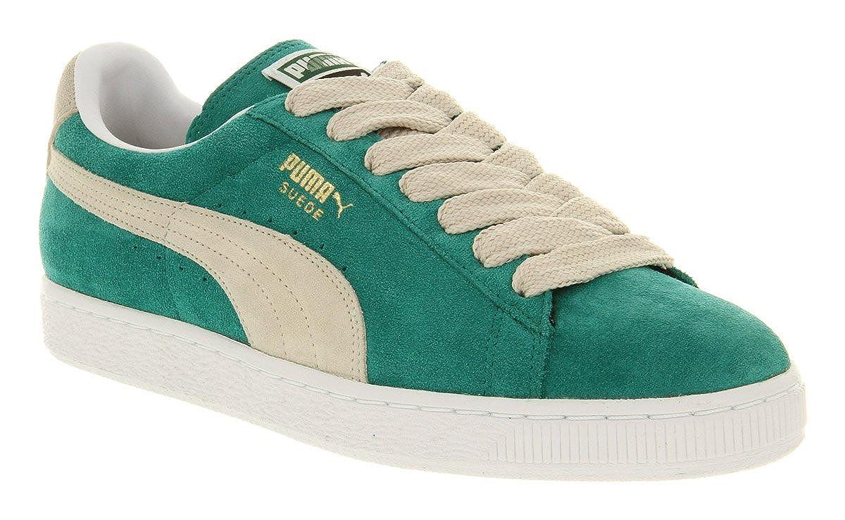 497a4772685 Puma Suede Classic Green Lake White Swan - 12 Uk  Amazon.co.uk  Shoes   Bags