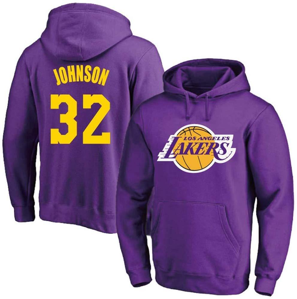 160~165CM NBA Lakers # 32 Earvin Johnson Jersey Comoda Casuale Formazione di Basket Felpa con Cappuccio Pullover XH-Sport Gli Uomini di Pallacanestro con Cappuccio ,A,S S-3XL