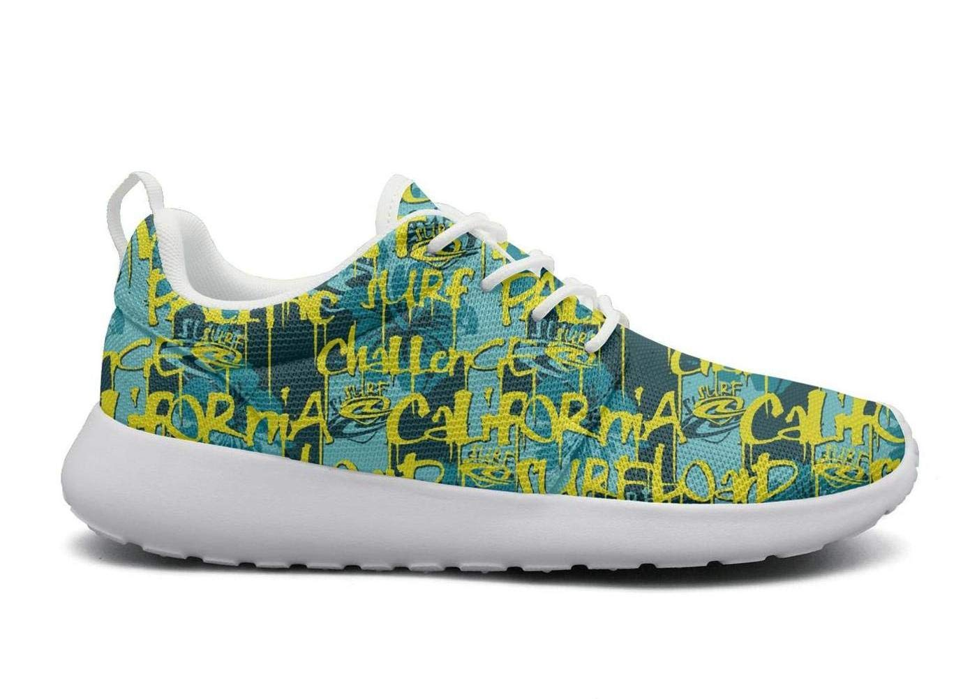 ERSER California Surfing Company Printed lace-up Running Shoes Women