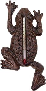 Treasure Gurus Garden Frog Indoor/Outdoor Thermometer Outside Temperature Gauge Home Wall Decor
