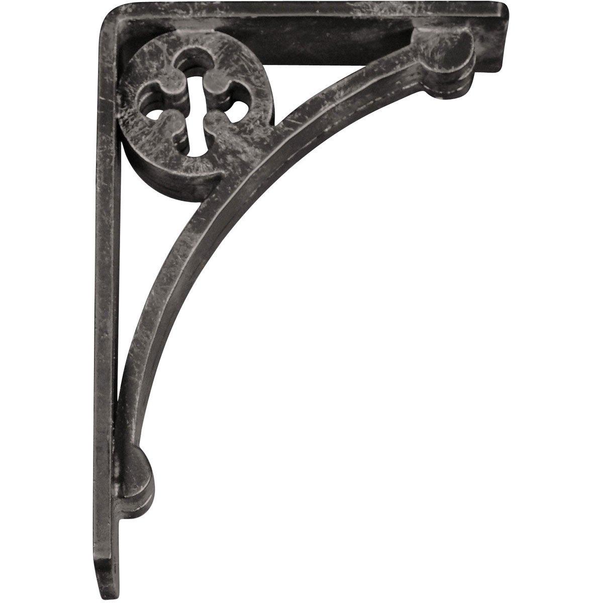 Ekena Millwork BKTM02X10X12TCR 2 W x 10 D x 12 H Crawley Wrought Iron Bracket Triple Center Brace