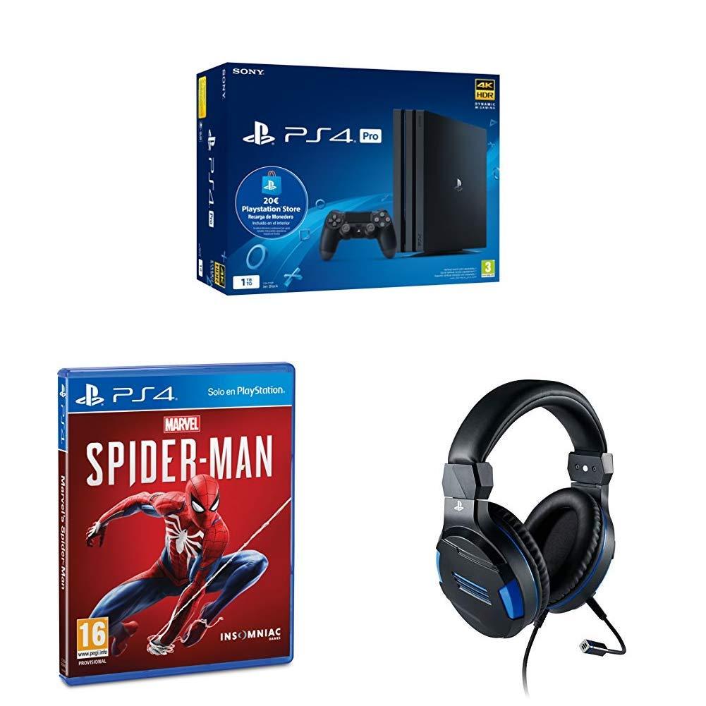 PS4 Pro - Consola de 1TB + 20€ Tarjeta Prepago + Marvels ...