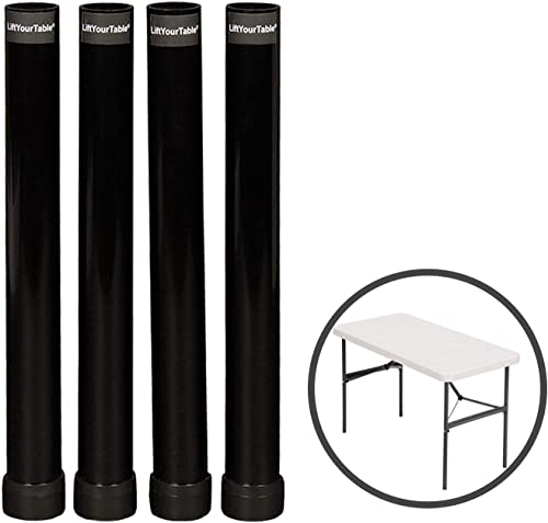 Lift Your Table Folding Table risers Extenders Straight Leg KIT. Save Your Back Kit for Folding Table You Already own