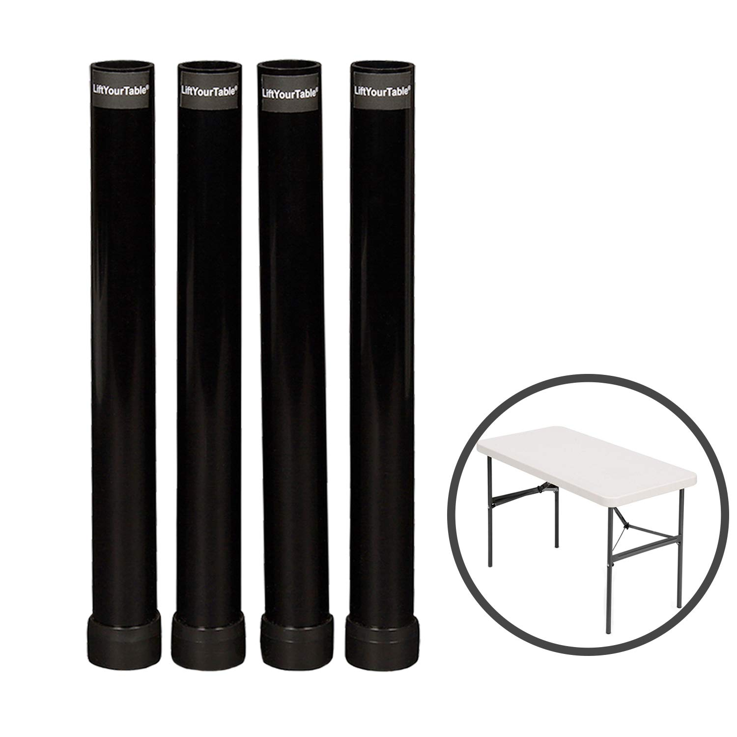Lift Your Table Folding Table risers Extenders Straight Leg KIT. Save Your Back! (Kit for Folding Table You Already own) by Lift Your Table