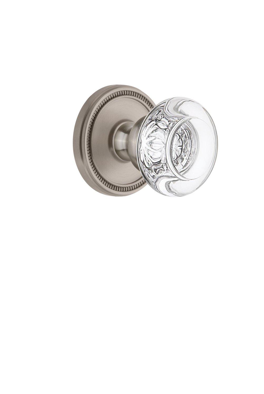 Grandeur 809156 Soleil Rosette Passage with Bordeaux Crystal Knob in Lifetime Brass 2.375