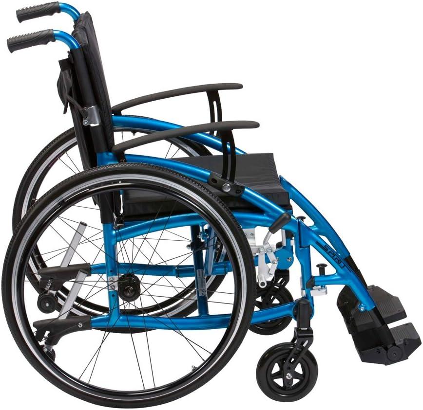 Drive Medical XSES18BL Enigma Spirit - Silla de ruedas (45,7 cm), color azul