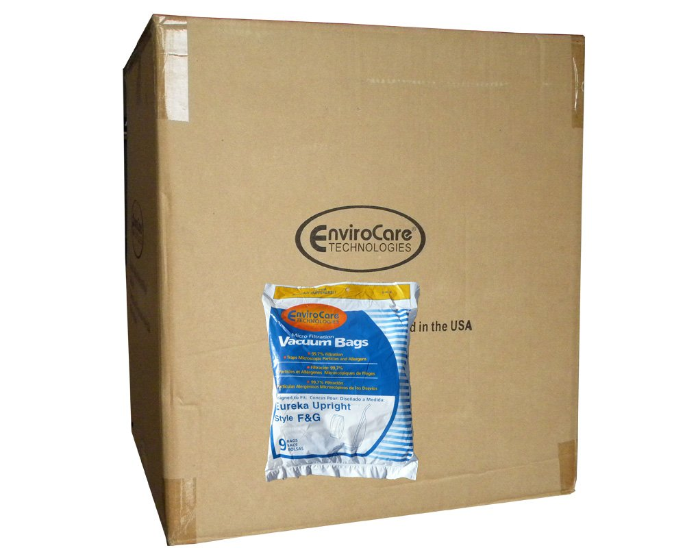 225 Eureka Allergy Micro Lined Vacuum F&G Bag Sanitaire Kenmore 5062, Uprights, White Westinghouse, Koblenz, Singer SUB-1, Commercial, Imperial, ESP Vacuum Cleaners, 52320A-12, 57695A-12, 200, 600, 1400, 1900, 2000, 2100, 4000, S600 & S800, 5062, 5002, 50