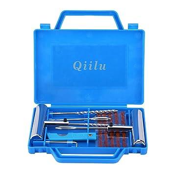 Qiilu 11pcs Kit de reparación de diagnóstico de neumáticos Herramienta de reparación de pinchazos de neumáticos