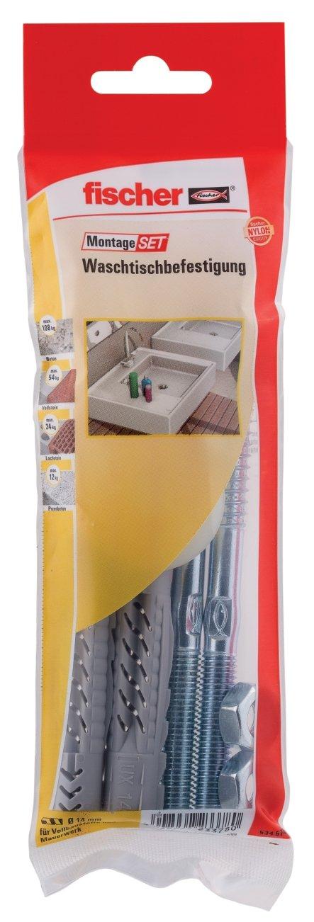 1 x punte per muratura 8 x 120 534583 Fischer di montaggio radiatori B 4 x Universal tasselli UX 8 x 50 R 4 x Vite 6 x 80