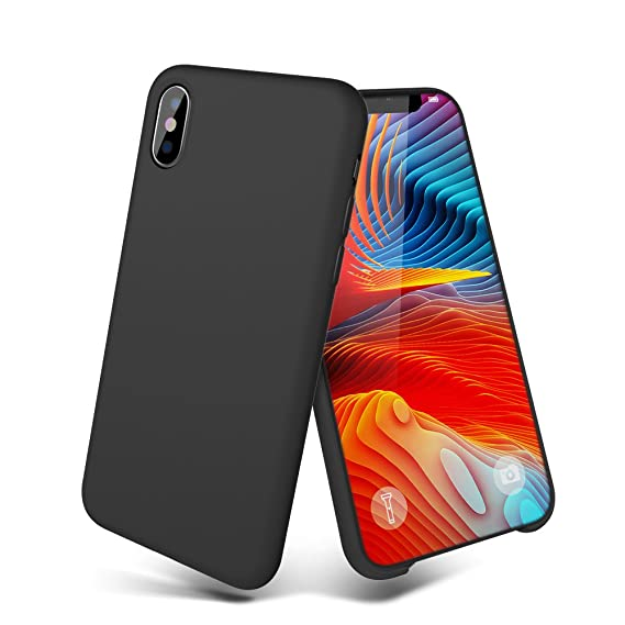 sports shoes 2092e 04e75 Meanlove iPhone X Case, iPhone 10 Case, Silicone Gel Rubber Case with Soft  Microfiber Cloth Lining Cushion for iPhone X (Black iPhone x Accessories)