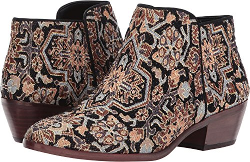 Sam Edelman Women's Petty Ankle Boot, Black/Multi Turkish Tapestry, 9 Medium US from Sam Edelman