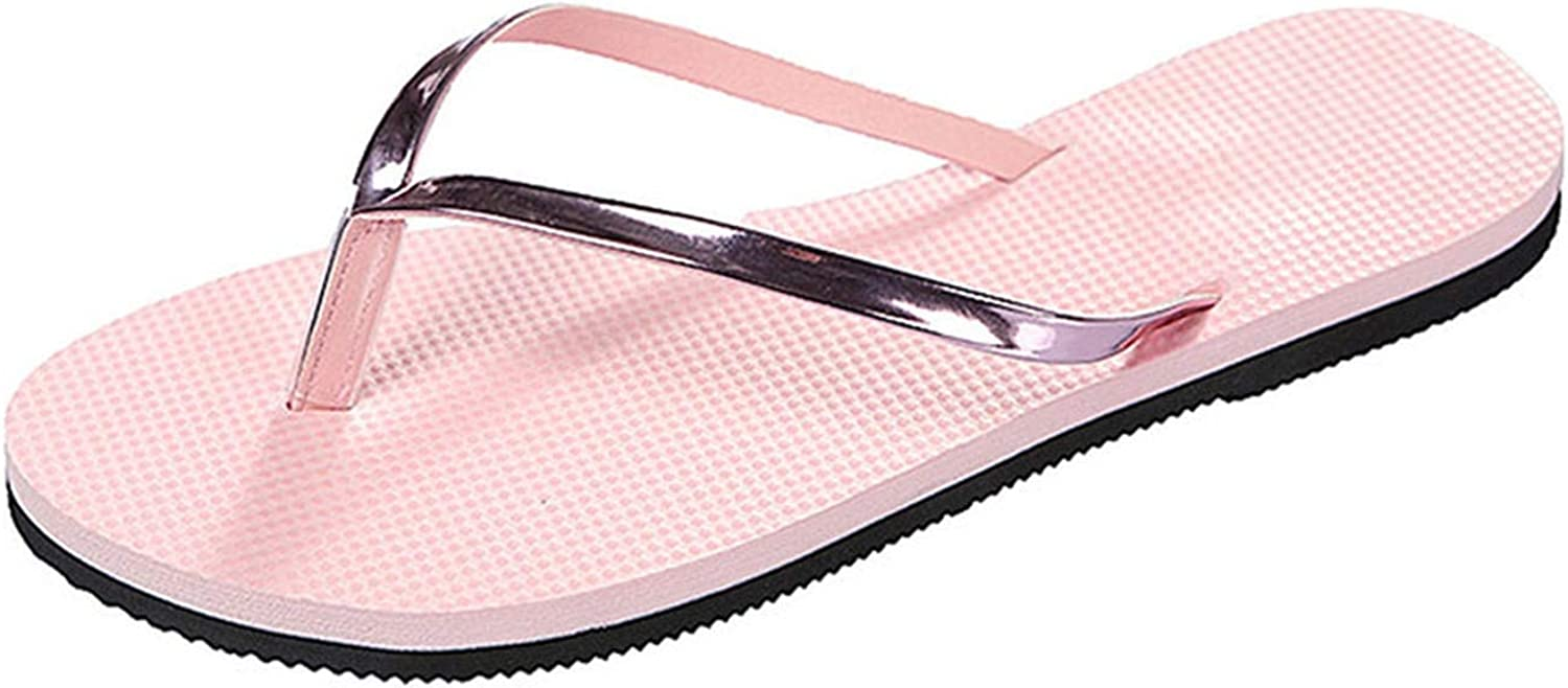 shoes queener Women Summer Non-Slip Flip Flops Color Breathable Flat Bottomed Casual Beach Outdoor Slippers #40