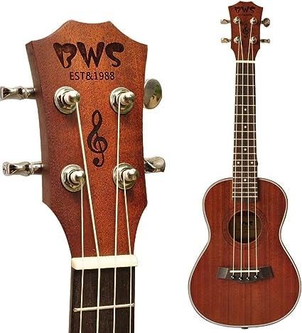 QLJ08 23 pulgadas Ukelele Hawaii guitarra 4 cuerdas de madera para ...