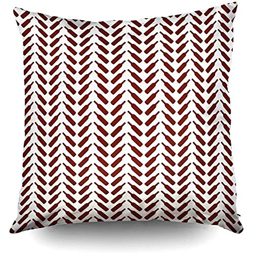 (Herringbone Wine Bottle Pattern Cream and Red Decorative Throw Pillow Case 18X18Inch,Home Decoration Pillowcase Zippered Pillow Covers Cushion Cover with Words for Book Lover Worm Sofa Couch)