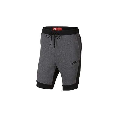 b2279edd641 NIKE Men's Sportswear Tech Fleece Short Charcoal Heather 805160-071 (Size: M )