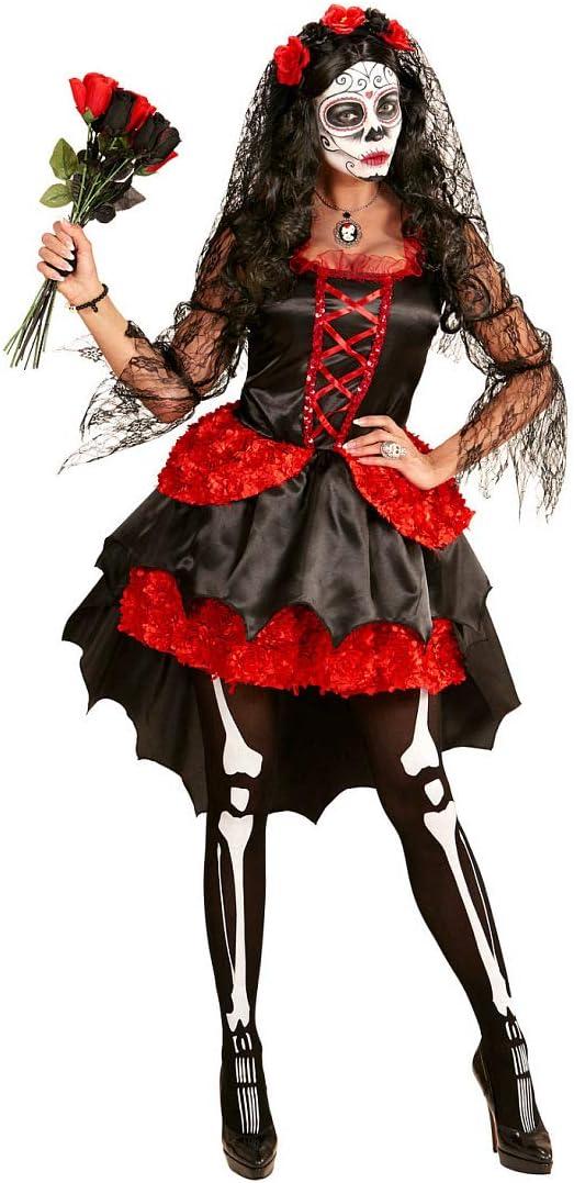 Amakando Elegante Disfraz día de los Muertos Halloween para Dama ...