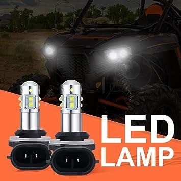 50W LED Headlights Bulbs for Polaris Sportsman 500 550 570 Super White Lamp  Bulbs