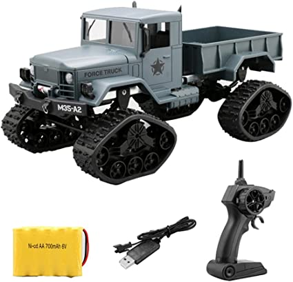 1:16 Electric RC Crawler Military Car Drive Off Road 4WD 2.4G Camera Track Truck