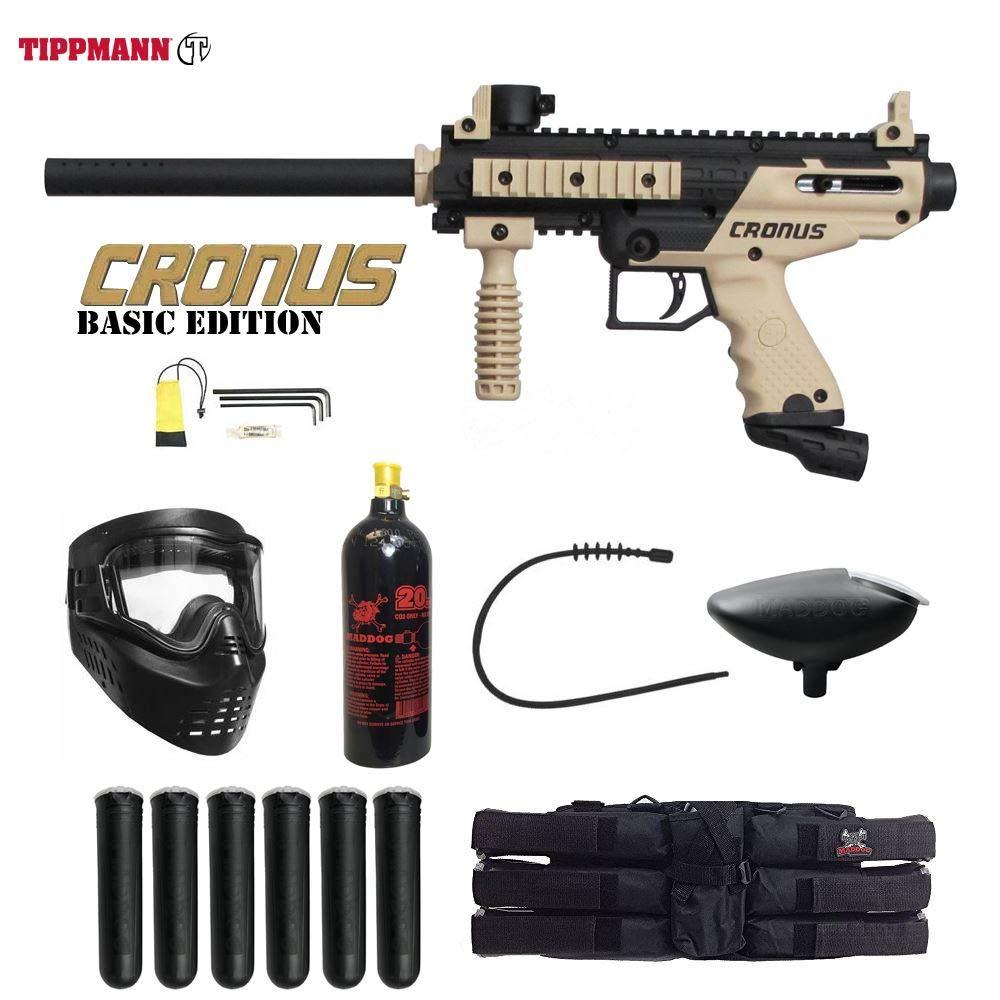 MAddog Tippmann Cronus Basic Titanium Paintball Gun Package - Black/Tan by MAddog